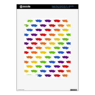 Rainbow Moustaches Decal For iPad 3