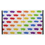 Rainbow Moustaches iPad Folio Covers