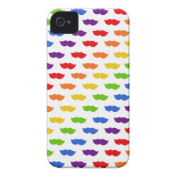 Case-Mate iPhone 4 Barely There Universal Case with Mustache Rainbow design