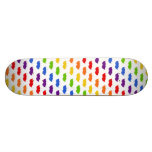 Rainbow Moustaches Skate Board