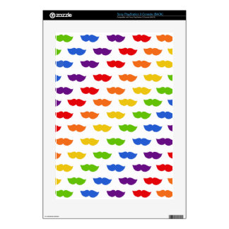 Rainbow Moustaches Skin For The PS3