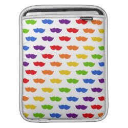 iPad Sleeve with Mustache Rainbow design