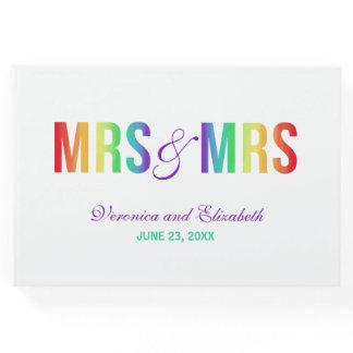 Rainbow Mrs & Mrs | Lesbian Wedding Guest Book