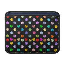 Rainbow Multicolor Face Pattern MacBook Air Sleeve