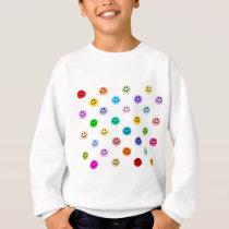 Rainbow Multicolor Face Pattern Sweatshirt
