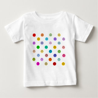 Rainbow Multicolor Smiley Face Pattern Baby T-Shirt