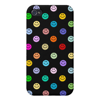 Rainbow Multicolor Smiley Face Pattern iPhone 4 Case