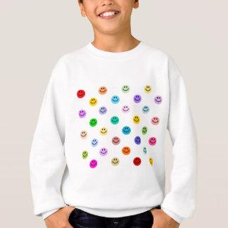 Rainbow Multicolor Smiley Face Pattern Sweatshirt