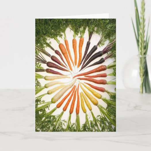 Rainbow Multicolored Carrots Greeting Card