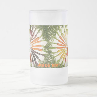 Rainbow Multicolored Carrots Frosted Glass Beer Mug