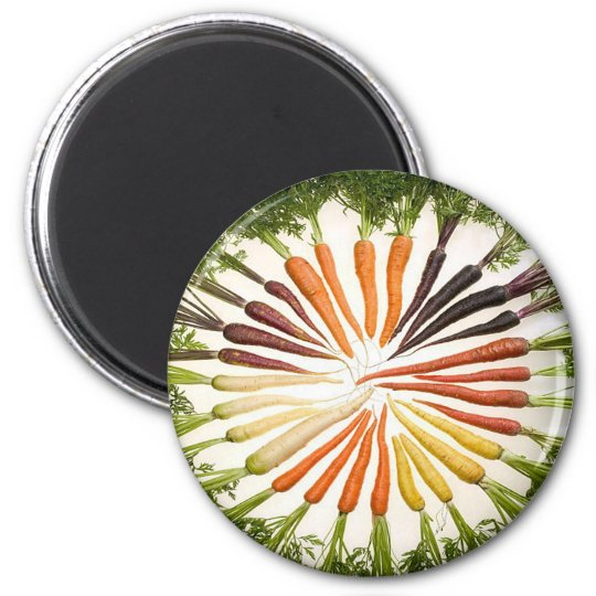 Rainbow Multicolored Carrots Magnet