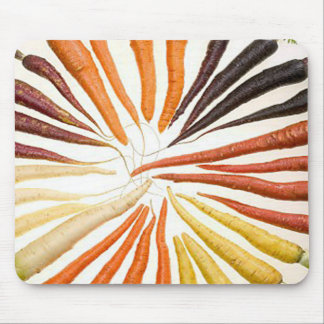Rainbow Multicolored Carrots Mouse Pad