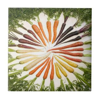 Rainbow Multicolored Carrots Tile