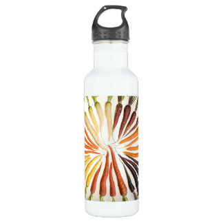 Rainbow Multicolored Carrots Water Bottle