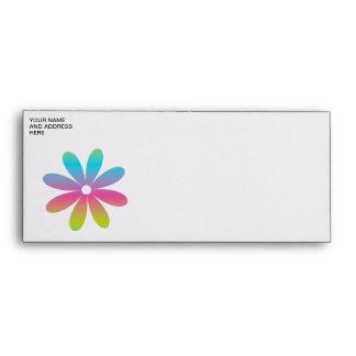Rainbow Multicolored Flower Envelope