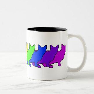 Rainbow Munchkin Two-Tone Coffee Mug