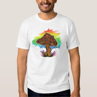 Rainbow Mushroom Design T-shirt