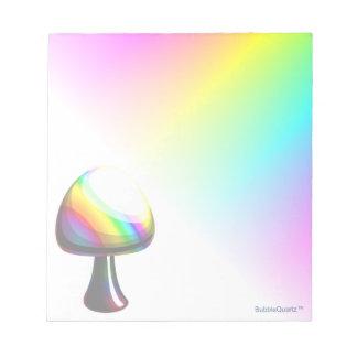 Rainbow mushroom notepad
