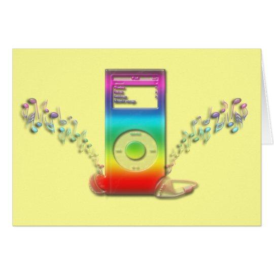 Rainbow Music Card