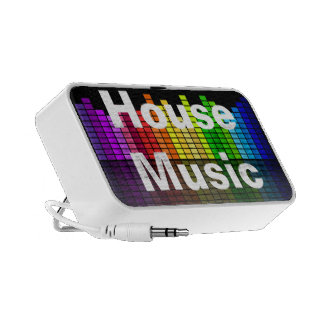 Rainbow Music Equalizer with your custom Text Portable Speaker