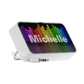 Rainbow Music Equalizer with your custom Text Speaker