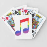 Rainbow Music Note Bicycle Playing Cards