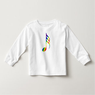 Rainbow Music Note Toddler T-shirt