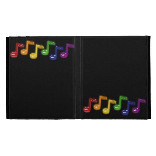 Rainbow Music Notes iPad Cases