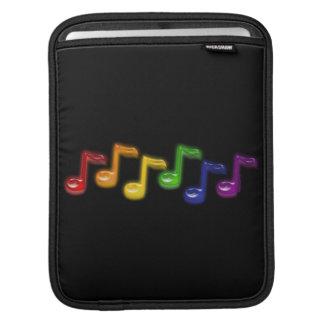 Rainbow Music Notes iPad Sleeves
