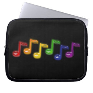 Rainbow Music Notes Laptop Sleeves