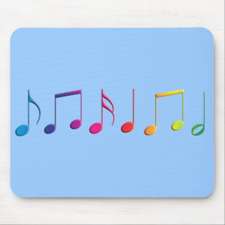 Rainbow Music Notes Mouse Pad