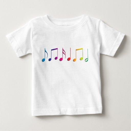 Rainbow Music Notes T Shirt