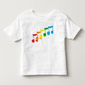 Rainbow Music Notes Toddler T-Shirt