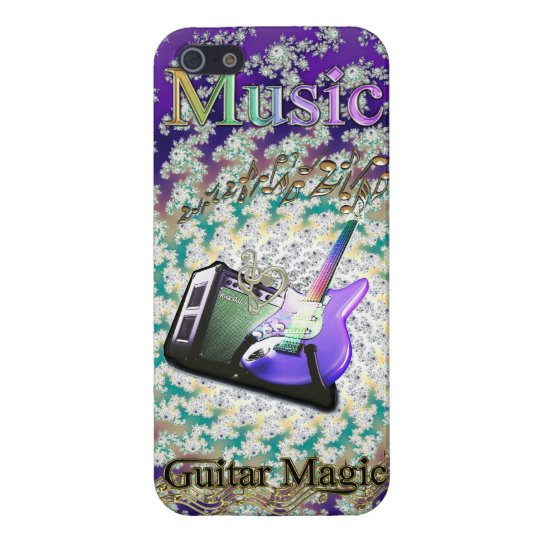 Rainbow Music Swirling Notes Magic Guitar Case