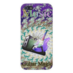 Rainbow Music Swirling Notes Magic Guitar Case Cover For iPhone 5