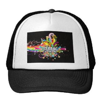 rainbow music theme trucker hat