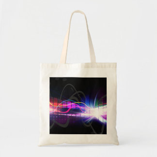 Rainbow Musical Wave Form Tote Bags