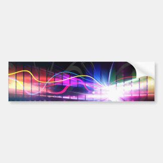 Rainbow Musical Wave Form Bumper Sticker