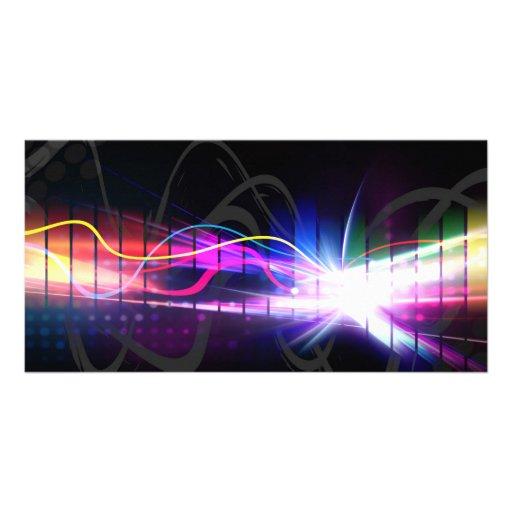 Rainbow Musical Wave Form Card
