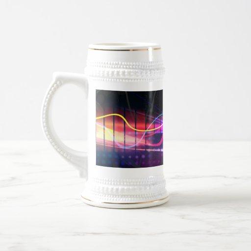 Rainbow Musical Wave Form Coffee Mug