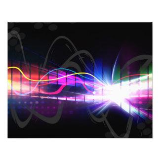 Rainbow Musical Wave Form Photo Print