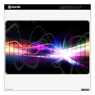 "Rainbow Musical Wave Form Skin For 11"" MacBook Air"