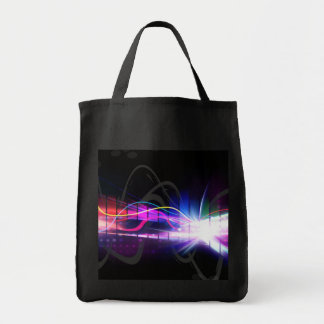 Rainbow Musical Wave Form Tote Bag