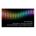 rainbow musicmeterz. business card templates