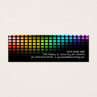 rainbow musicmeterz. mini business card