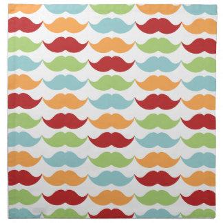 Rainbow Mustache Cloth Dinner Napkins for Home