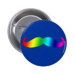 Rainbow Mustache T-shirt Buttons