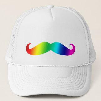 Rainbow Mustache T-shirt Trucker Hat