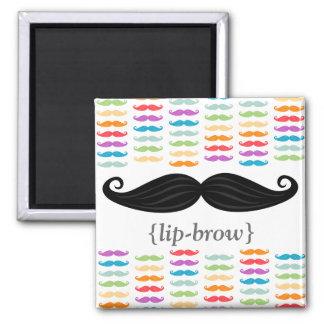 "Rainbow Mustaches ""Lip-Brow"" Magnet"