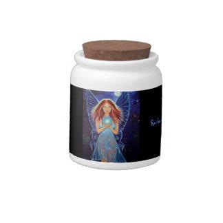 Rainbow Mystic Faery Candy/Herb Jar Candy Dishes
